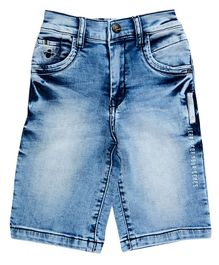 LEO River Wash Denim Shorts - Blue