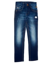 LEO Solid Full Length Jeans - Blue