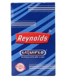 Reynolds Liquiflo Ball Point Pens Pack of 20 - Blue