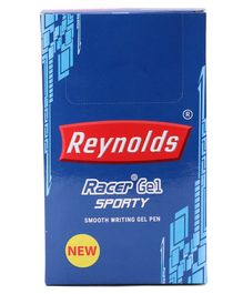 Reynolds Racer Sporty Gel Pen Pack of 20 - Blue