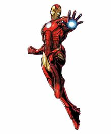 RoomMates Glow In The Dark Iron Man Wall Decal -  Red