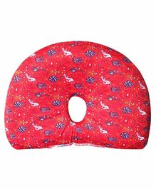 The White Willow Baby Pillow with Removable Organic Bamboo Cover - Red