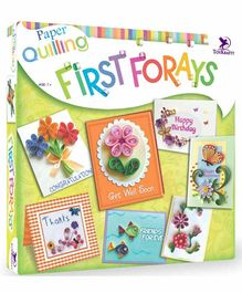 Toy Kraft Paper Quilling First Forays Kit - Multicolour