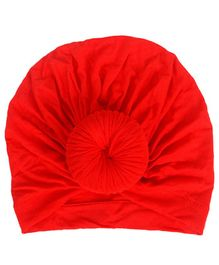Syga Turban Wrapped Style Cap Red - Circumference 32 cm