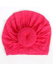 Syga Turban Wrapped Style Cap Pink - Circumference 32 cm
