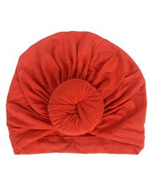 Syga Turban Wrapped Style Cap Orange - Circumference 32 cm