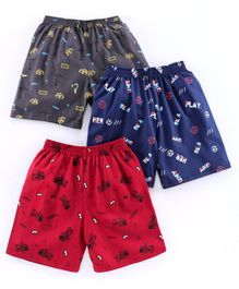 Cucumber Shorts Multiprint - Pack of 3(Colour May Vary)