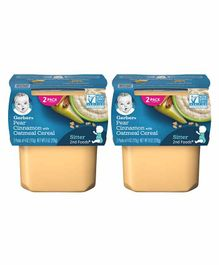 Gerber 2nd Foods Pear Cinnamon Puree Pack of 4 - 113 gm Each