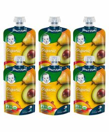 Gerber 2nd Foods Organic Fruit Puree Pack of 6 - 99 gm Each