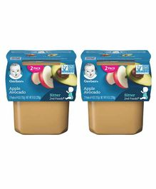 Gerber Apple Avocado Baby Food Pack of 2 - 113 gm Each