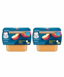 Gerber Apple Puree Pack of 2 - 56 gm Each