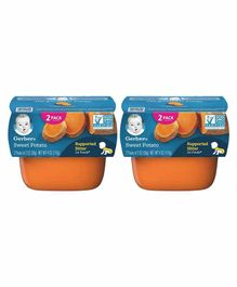Gerber Sweet Potato Puree Pack of 2 - 56 gm Each