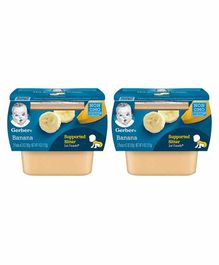 Gerber Banana Puree Pack of 2 - 56 gm Each