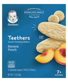Gerber Teethers Gentle Teething Wafers - 48 gm