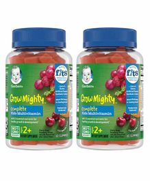 Gerber Grow Mighty Gummy Multivitamin Pack of 2 Bottles - 60 Gummies Each