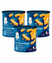 Gerber Lil' Crunchies Mild Cheddar Pack of 3 - 43ml Each