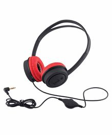 iBall Musi Wired Headphones Without Mic- Black Red