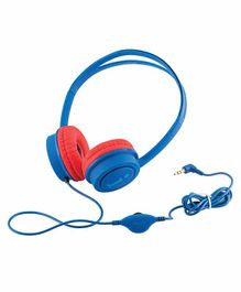 iBall Musi Wired Headphones Without Mic- Dark Blue Red