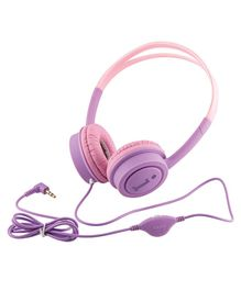 iBall Musi Wired Headphones Without Mic- Pink Purple