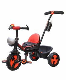 Trifox Rockstar 500 Plug n play Tricycle With Parental Control - Black Red