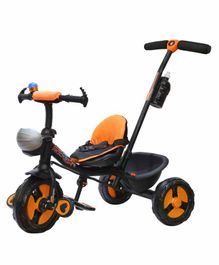 Trifox Plug n Play Tricycle with Parent Push Handle - Orange