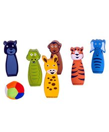Desi Toys Jungle Bowling Game - Multicolor