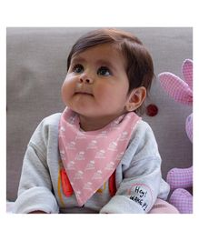 Polka Tots 100% Organic Cotton Two Layer Bandana Style Bibs Princess Print - Pink