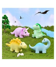Skylofts Chocozone Miniature Dino Toys Pack of 4 - Multicolor
