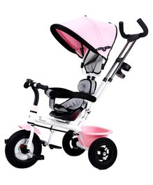 R for Rabbit Tiny Toes Sportz Tricycle - Pink Grey