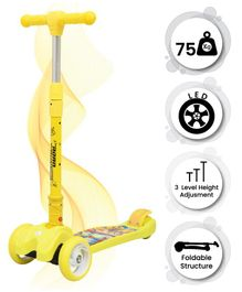 R for Rabbit Road Runner The Smart And Smooth Kids Scooter - Yellow