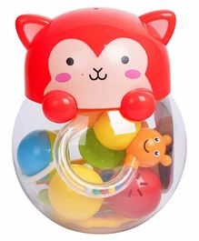R for Rabbit Orapple Kitty Rattle Set Pack of 5 - Red