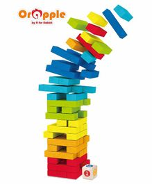 Orapple By R For Rabbit Wooden Tumble Tower Jenga Game - 54 Pieces