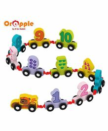 Orapple By R For Rabbit Wooden Number Train Toy - Multicolor