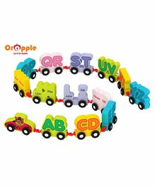 Orapple By R For Rabbit Wooden Alphabet Train A to Z - 14 Pieces