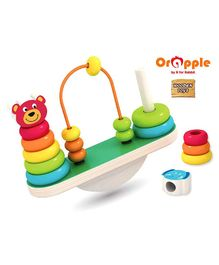 Orapple by R for Rabbit See Saw Wooden Balance Stacker Set Of 16 - Multicolor