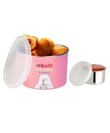 Falcon Dura Snack Container Pink - 450 ml