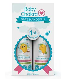 BabyChakra Safe Hands Kit - Hand Sanitizer and Hand Wash Combo of 2 - 200 ml Each