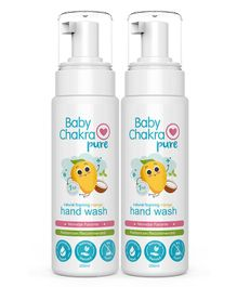 BabyChakra Coconut and Aloe Vera Foaming Hand Wash Pack of 2 - 200 ml Each