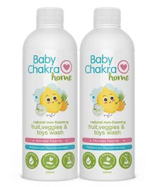 BabyChakra Fruit and Vegetable Wash Pack of 2 - 200 ml Each