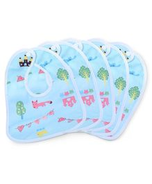Dokkodo Waterproof Bibs Pack of 6 - Blue