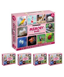 Wondrbox Card Matching Memory Game Pack of 5 - Multicolor