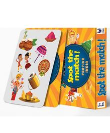 Wondrbox Spot The Match Festive India Card Game Pack of 5 - Multicolour