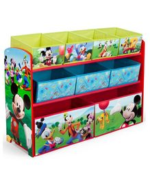 Pace Mickey Mouse Deluxe Multi Bin Toy Organizer - Multicolor