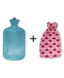 Sahyog Wellness Hot Water Bottle with Cover - Blue  (Cover Color May Vary)