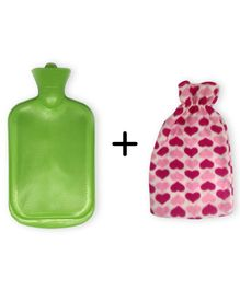 Sahyog Wellness Hot Water Bottle with Cover - Green  (Cover Color May Vary)
