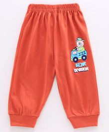 Tango Full Length Lounge Pant Bear Print - Red