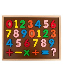 HILIFE Wooden Number & Symbol Board Puzzles - 26 Pieces