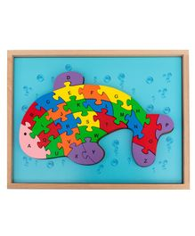 HILIFE Wooden Fish Shaped English Alphabet Board Puzzles - 26 Pieces