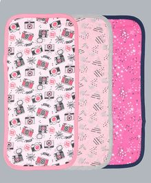 Grandma's Printed Burp Cloth Pack of 3 - Pink