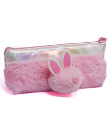 Fiddlerz Fur Pencil Pouch Bunny Motif - Pink